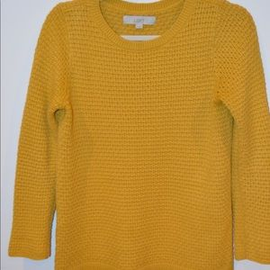 Cable Knit Mustard-Yellow Sweater